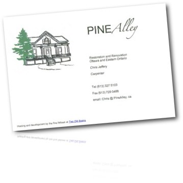 Pine Alley Business Card Site