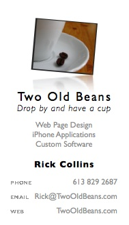Rick Collins business card